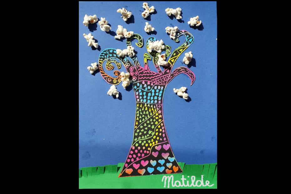 Disegno albero popcorn Matilde